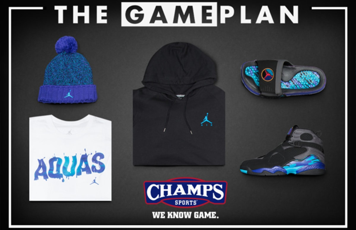 1a31510ad266 The Game Plan by Champs Sports Presents the Jordan Aqua Collection