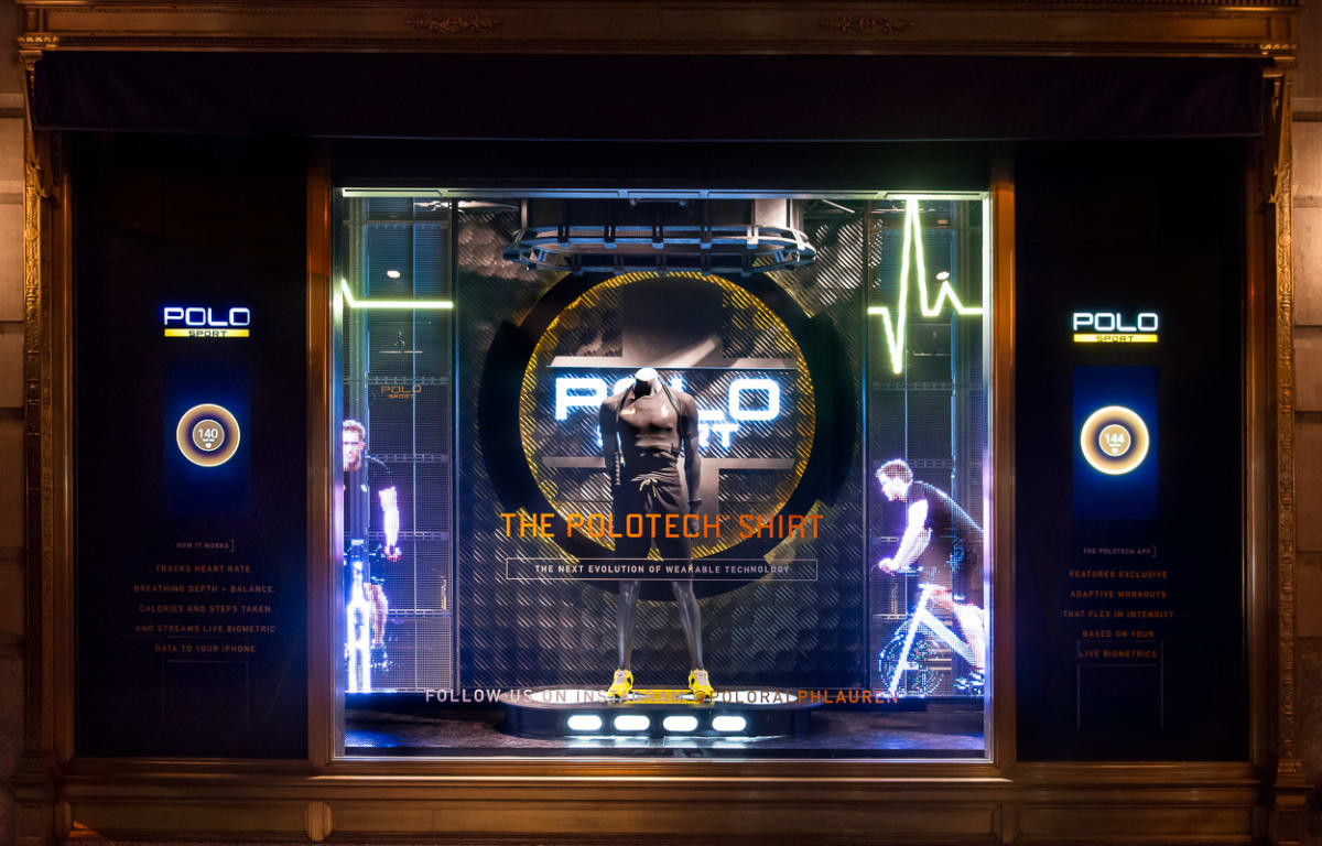 Ralph Lauren Creates Holographic And Interactive Window
