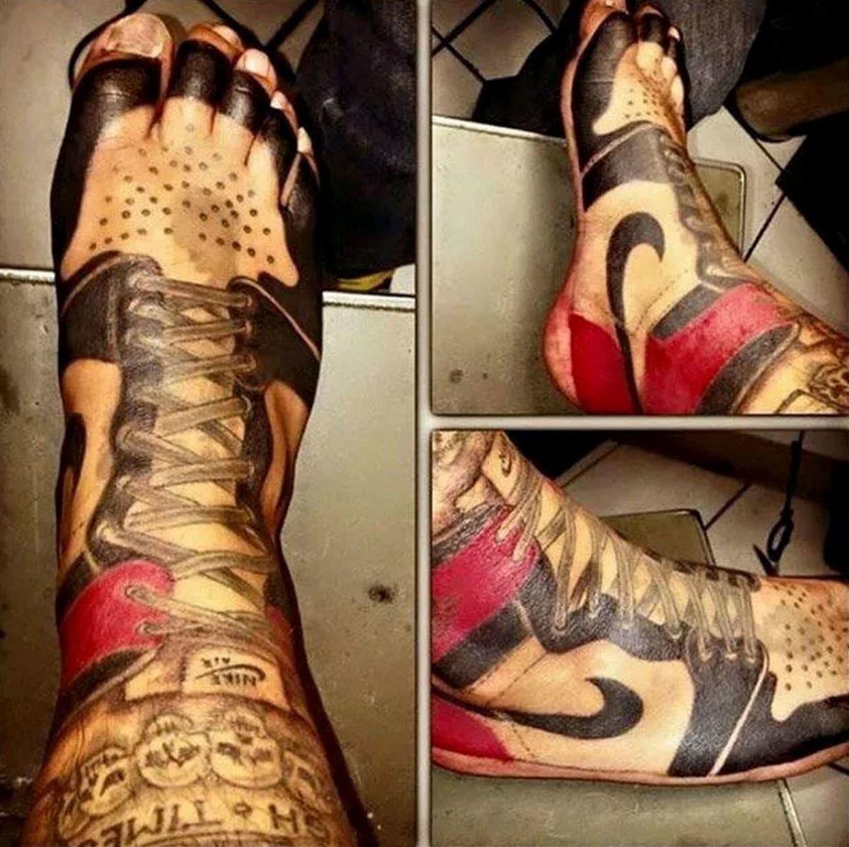 Converse Shoe Tattoo