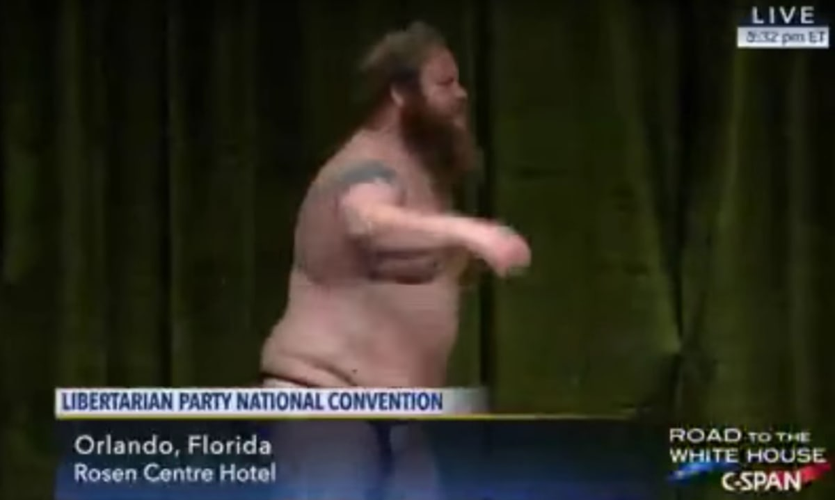 FLORIDA: Libertarian Party Chairman Candidate Strips Down