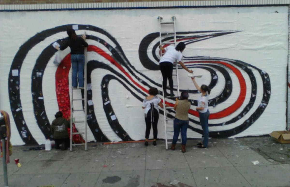 Elliott smith 39 s 39 figure 8 39 mural restored in los angeles for Elliott smith mural
