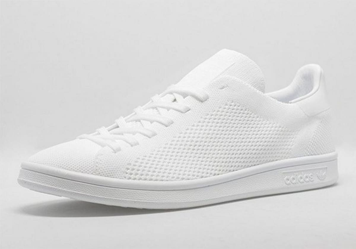 adidas stan smith primeknit triple white complex. Black Bedroom Furniture Sets. Home Design Ideas