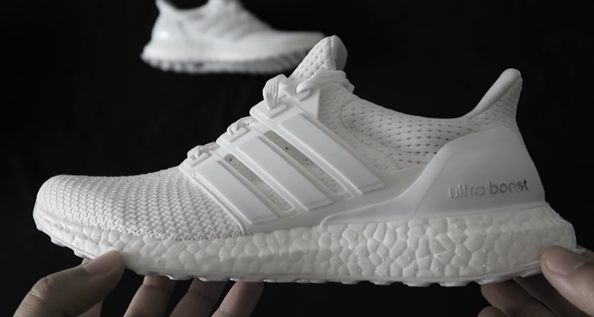 cheap for discount 17ba6 10e6d ... discount adidas ultra boost triple white video review complex af9fb  3fbbf