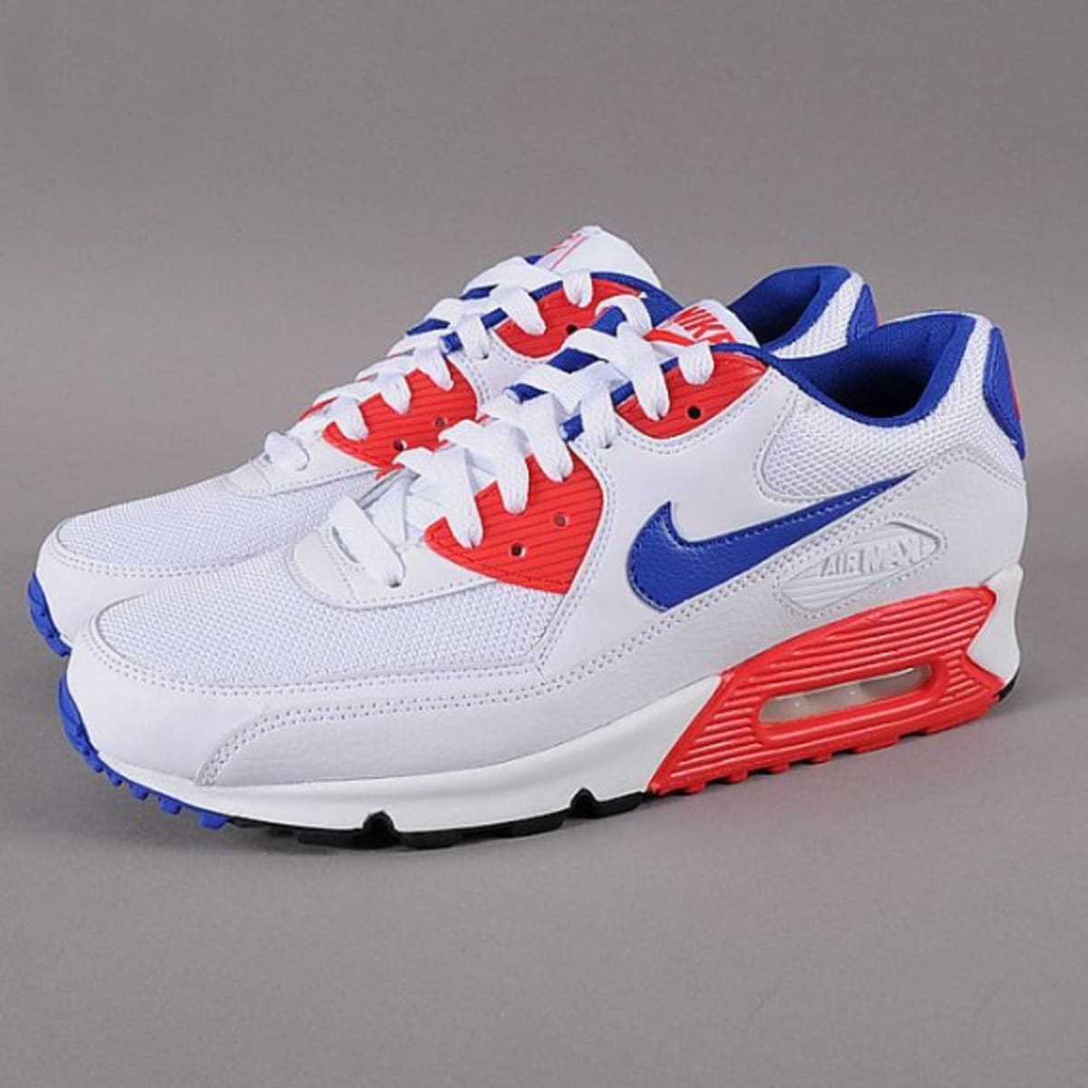 Nike Air Max 90 Essential White Hyper Blue Red