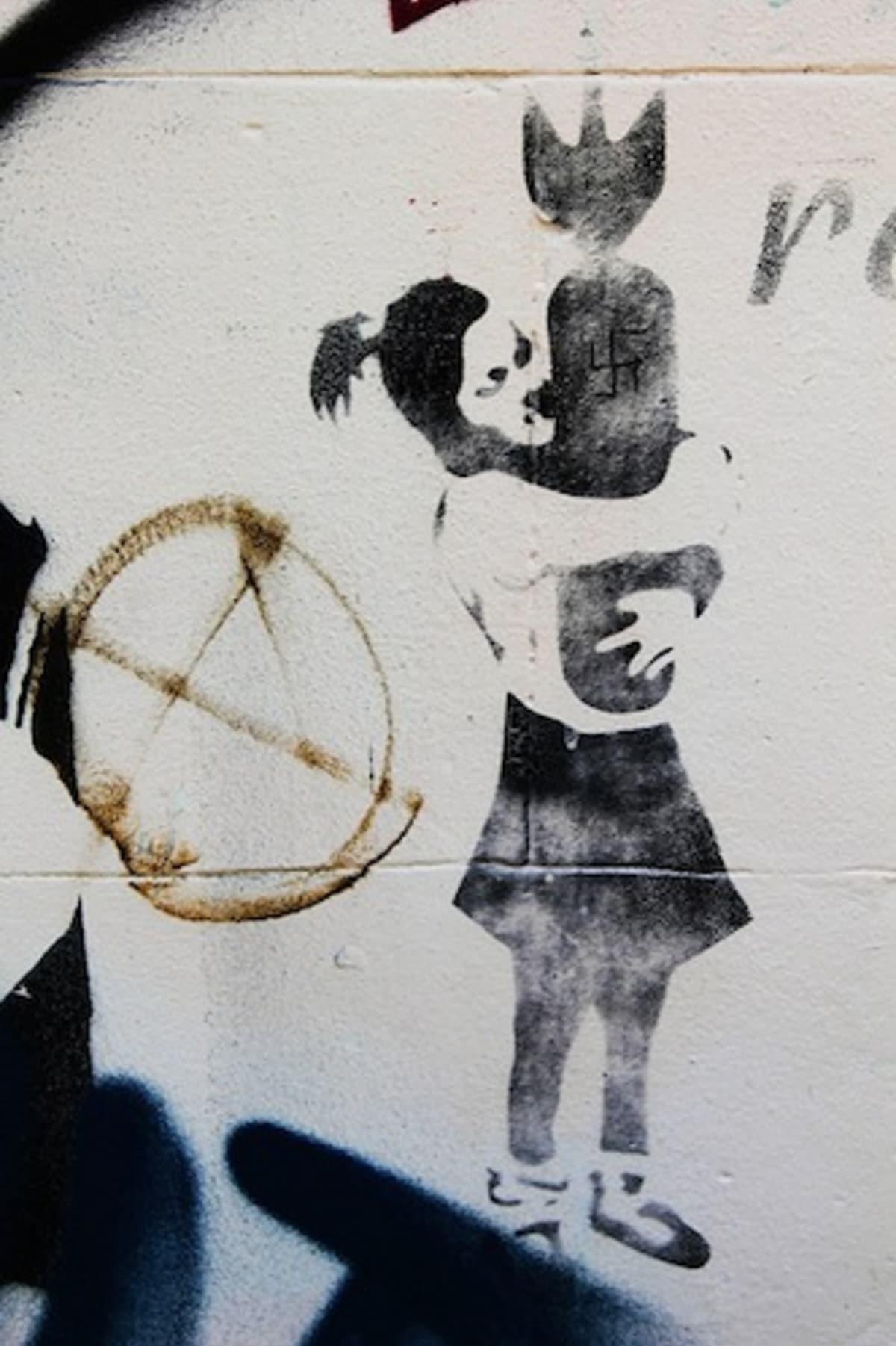 Two banksy pieces were accidentally painted over in for Banksy mural painted over