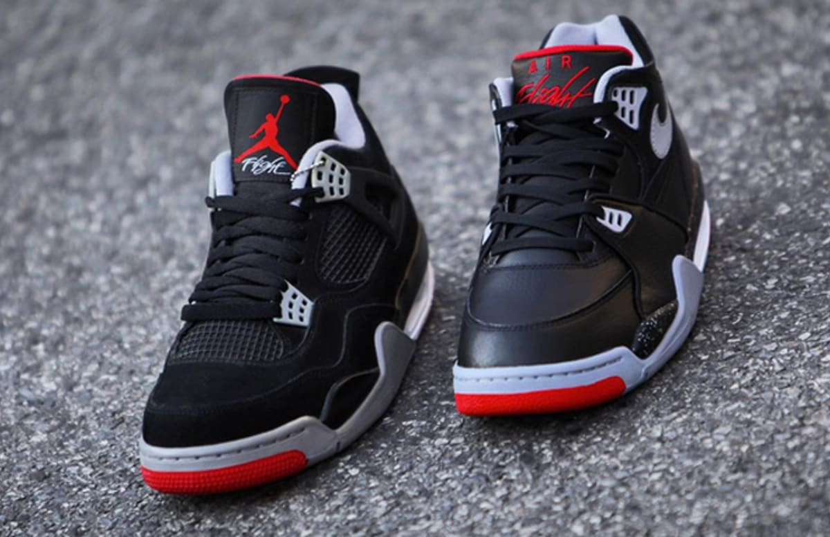 air jordan iv retro nike air flight 39 89 bred. Black Bedroom Furniture Sets. Home Design Ideas