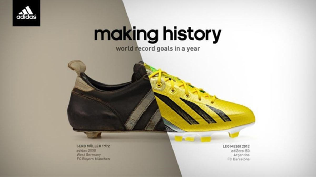 adidas rolls out quot history quot ad to celebrate messi s