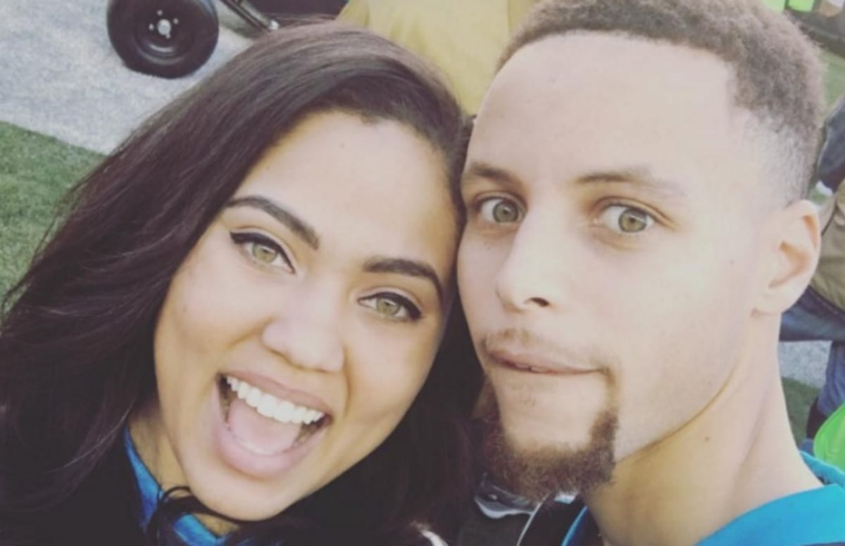 video of ayesha curry throwing confetti on steph curry