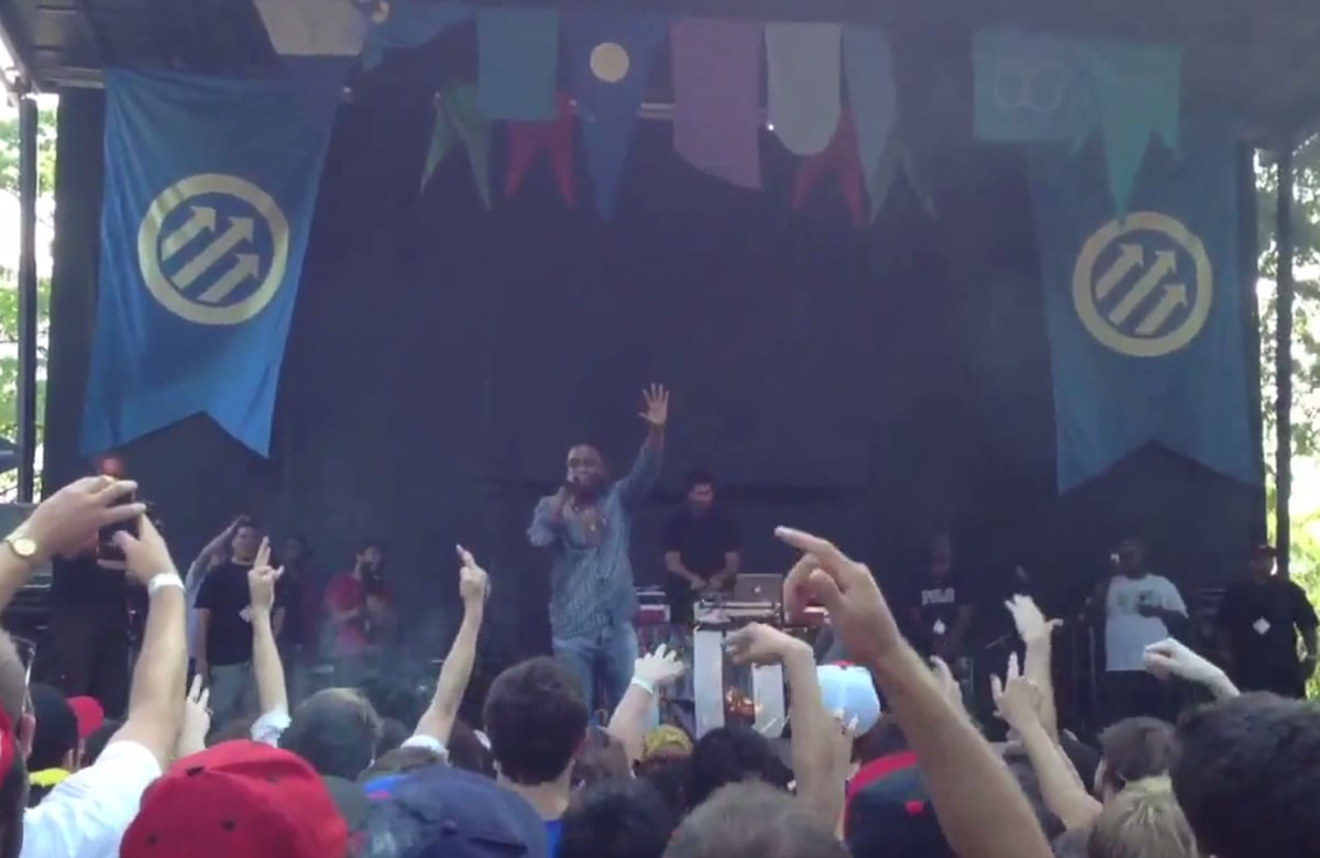 Video Kendrick Lamar Swimming Pools Drank Live At The Pitchfork Music Festival Complex