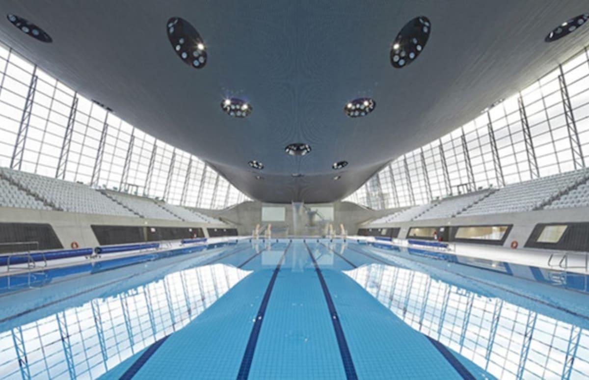 Zaha hadid 39 s london aquatics center has been renovated and for Pool design london