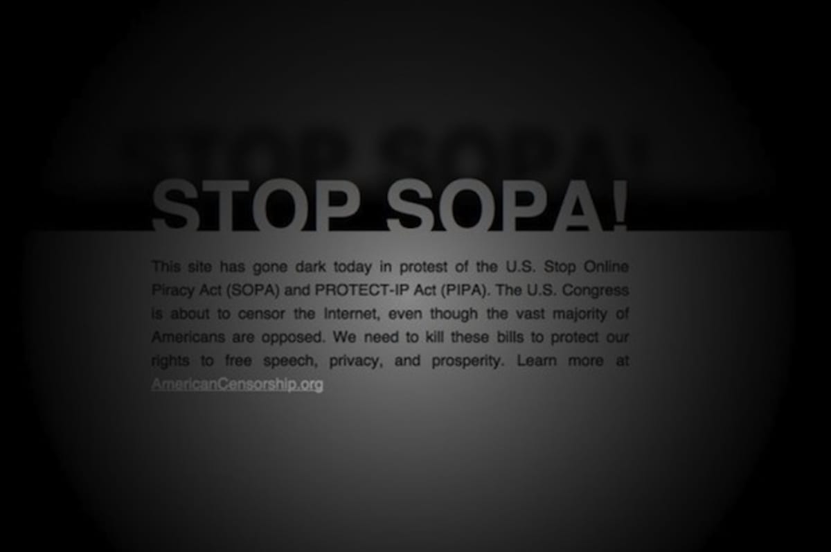 an analysis of the new bills from congress called sopa and pipa
