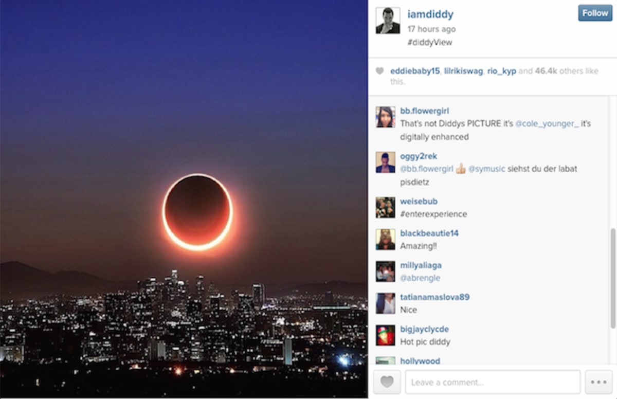 diddy was called out for using a photographer s image on