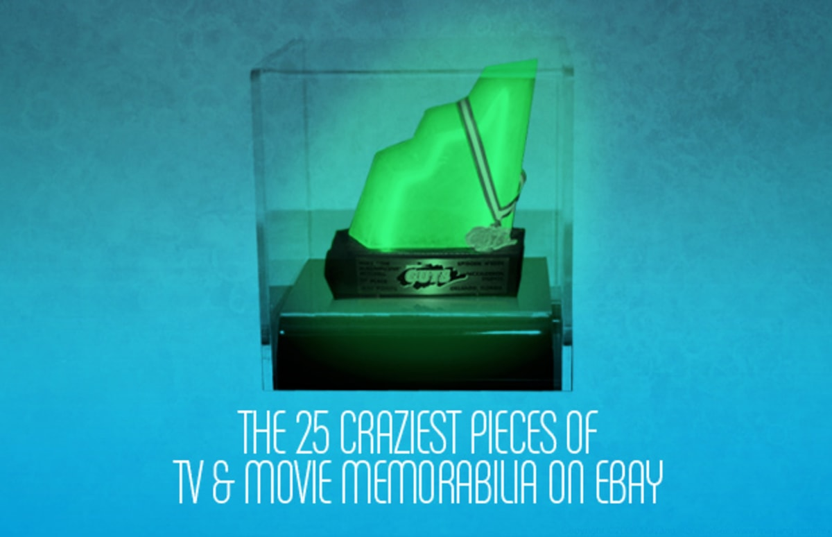 the 25 craziest pieces of tv movie memorabilia on ebay complex. Black Bedroom Furniture Sets. Home Design Ideas