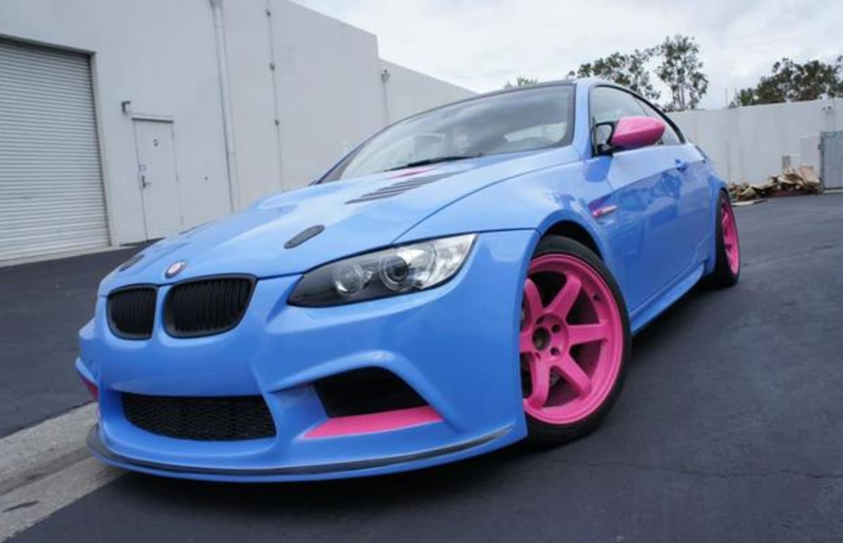 This Pink And Blue Bmw M3 Is The Ultimate Chic Car Complex