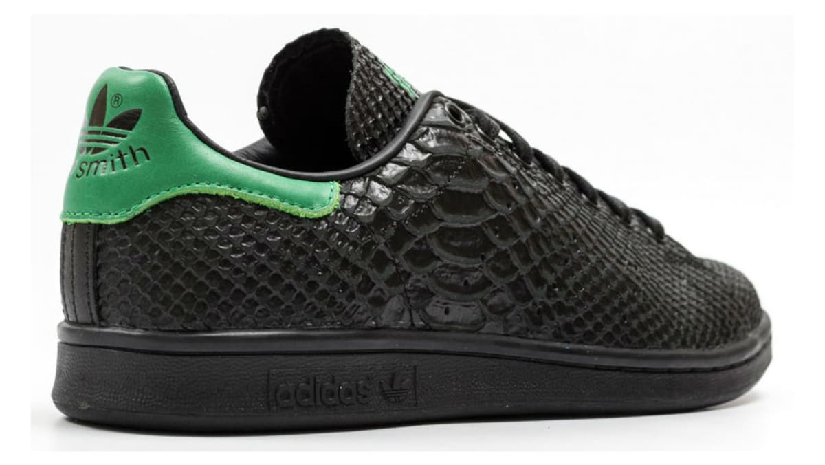 5a96470c22fc8f The adidas Stan Smith Gets Covered in Black Snakeskin