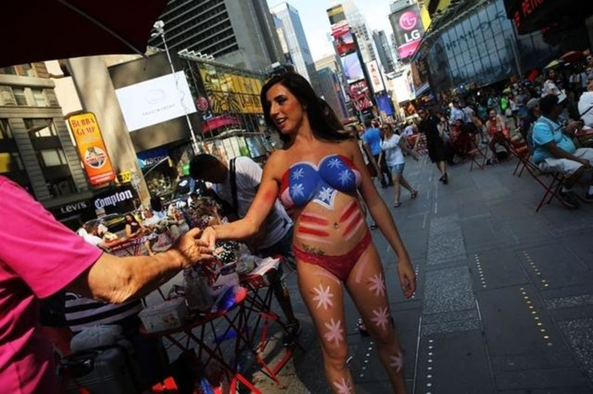 Times Square topless women involved in 2 arrests: sources
