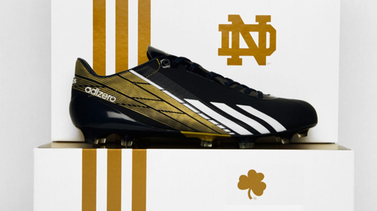 buy popular 12d01 05e27 Notre Dame To Debut the adidas adiZero 5-Star 2.0 in Tonights BCS Title  Game  Complex