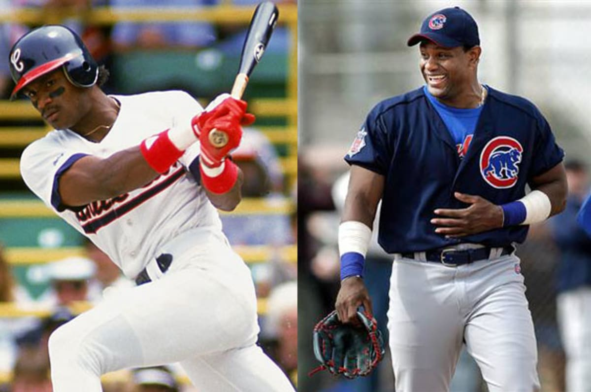 a comparison of mark mcgwire and sammy sosa on baseball Mark mcgwire sammy sosa (michael jordan, by comparison, had 86 percent recognition jeter, two years after retiring baseball, commensurate with.