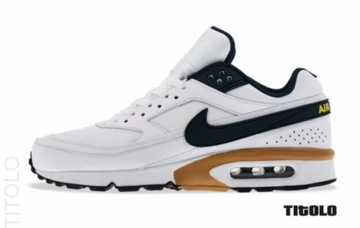 nike air max classic bw white navy gold complex. Black Bedroom Furniture Sets. Home Design Ideas