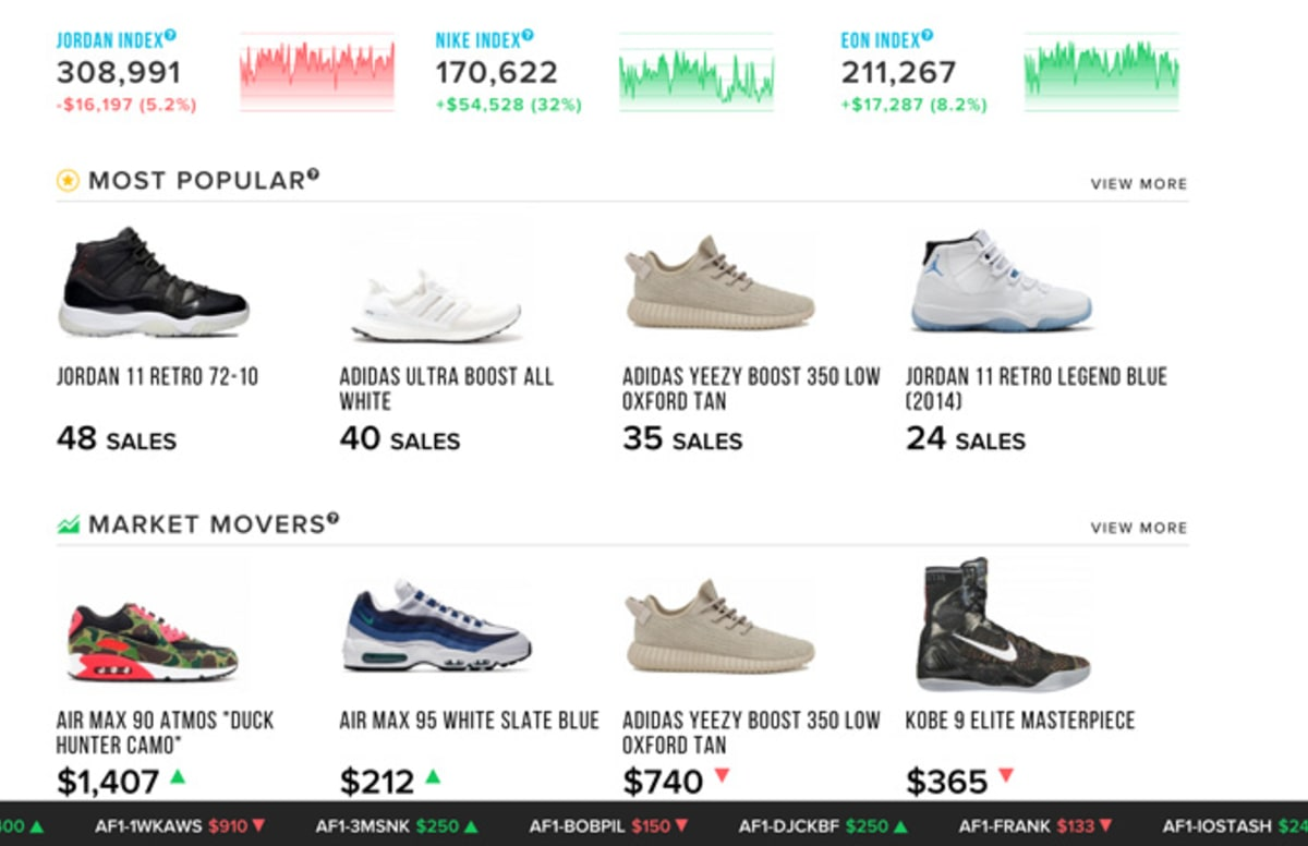 Campless Launches Stockx Sneaker Stock Market Complex