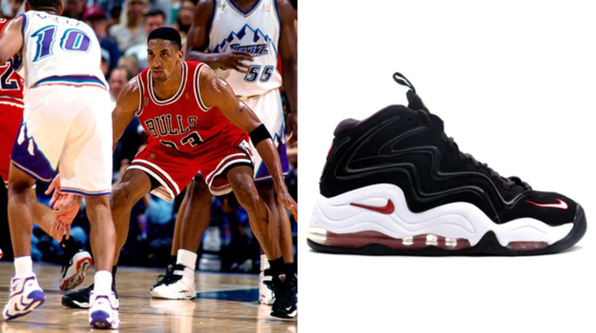 Today in Performance Sneaker History: Scottie Pippen Ties NBA Finals Record in the Nike Air ...