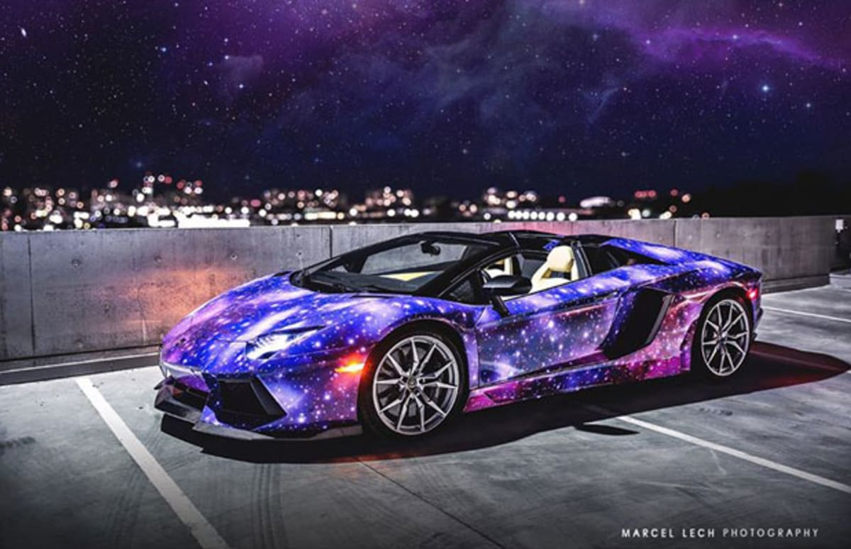 This Galaxy Wrapped Lamborghini Will Leave You Craving