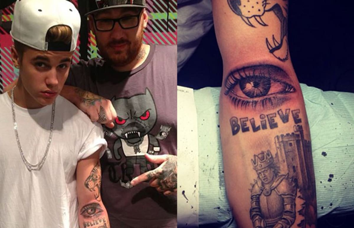 A psychoanalysis of justin bieber and his new tattoo complex for What to use on new tattoos