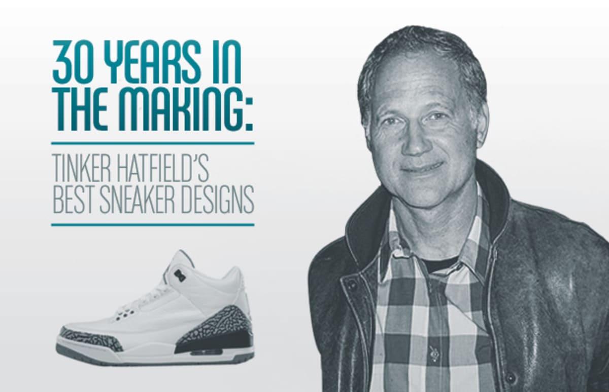 30 Years In The Making Tinker Hatfield S Best Sneaker Designs Complex