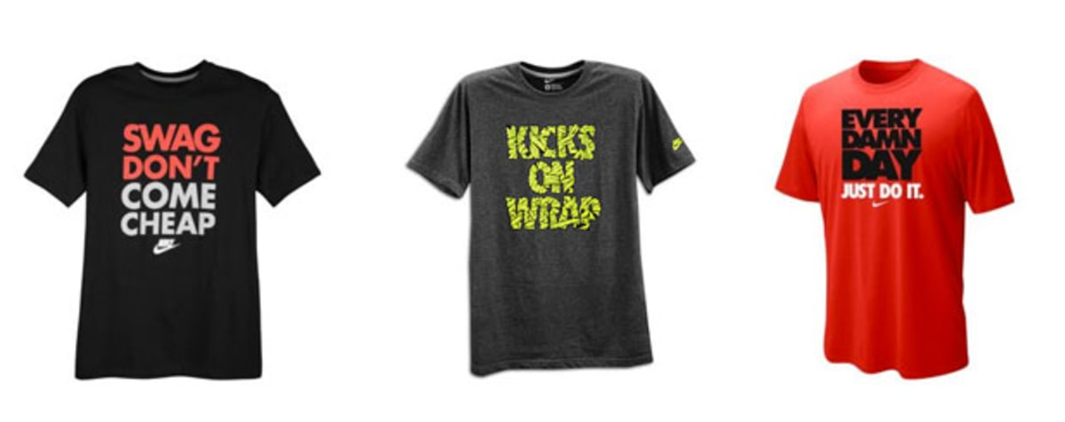 Nike 39 s new graphic tees make a statement on and off the for T shirt design upload picture