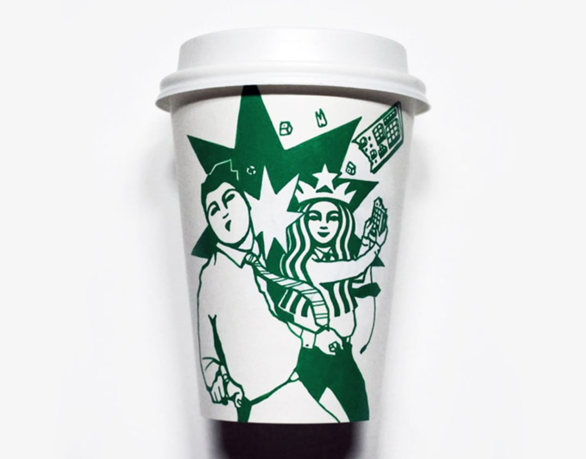 Artist Paints Starbucks Cups To Reimagine The Company S