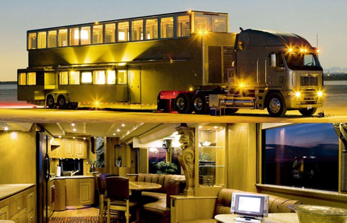 Ashton kutcher has a house on wheels complex for Ashton house