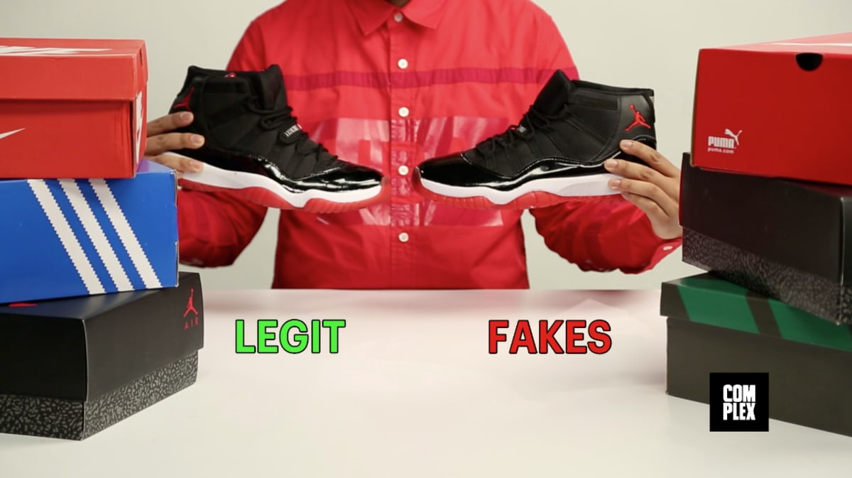 A Visual Guide To Spotting Fake Sneakers Video Complex