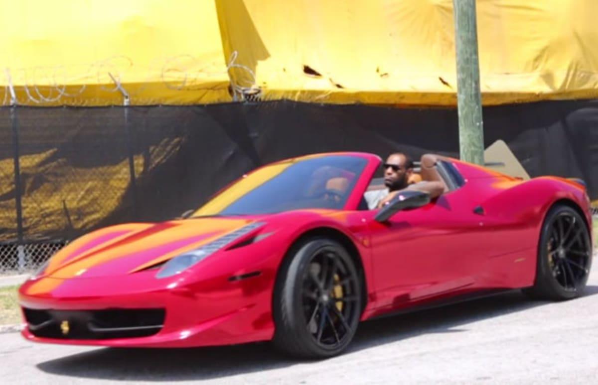 2014 Ferrari 458 Spider >> LeBron's Pre-Playoffs Car of Choice Is a Red Chrome Ferrari 458 Spider | Complex