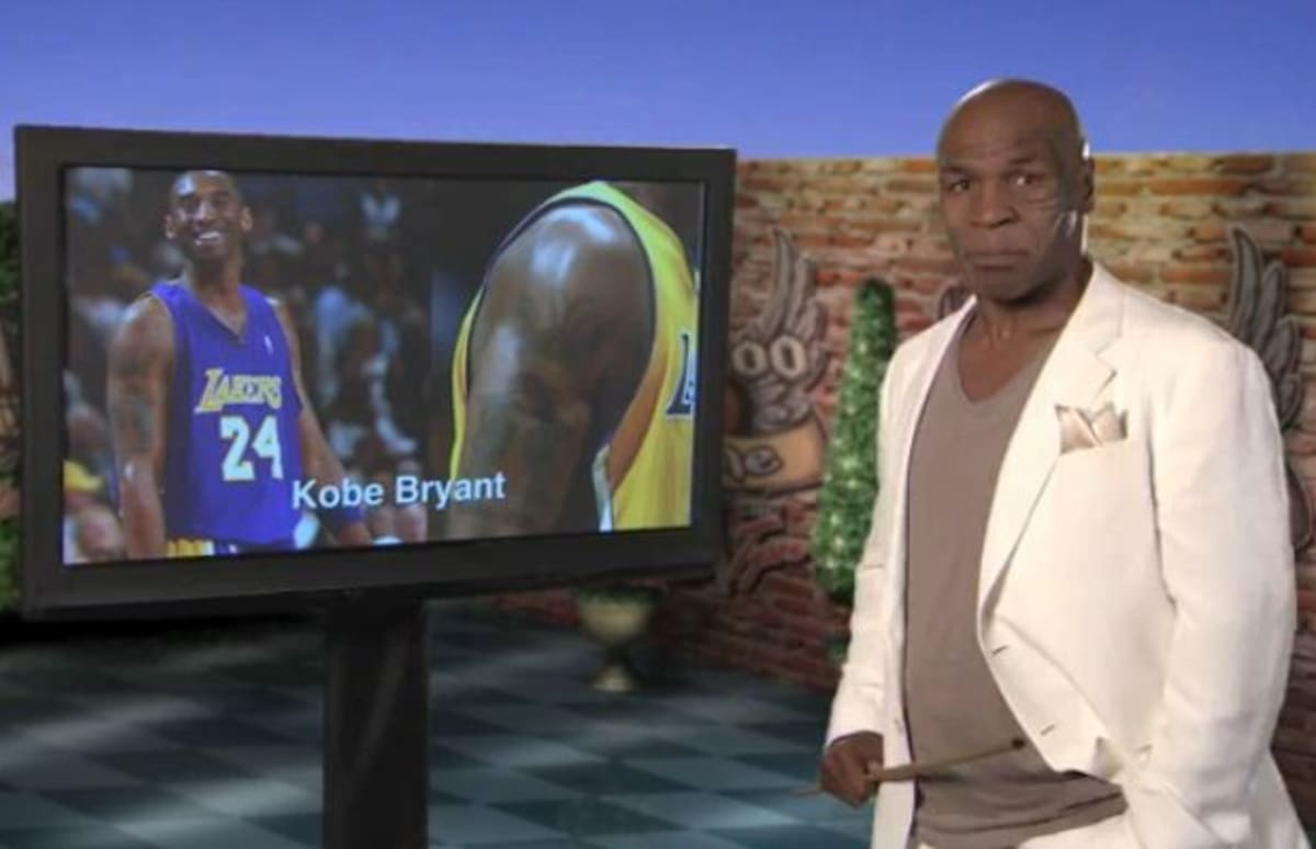 Mike tyson analyzes the tattoos of kobe bryant kenyon for Tyson motors service hours