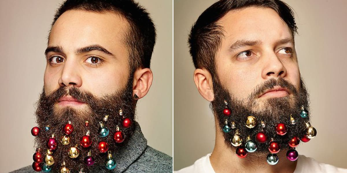 Hipsters Can Now Decorate Their Beards Like Christmas