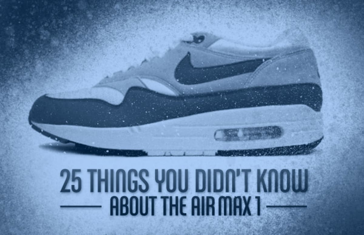 25 things you didn 39 t know about the air max 1 complex. Black Bedroom Furniture Sets. Home Design Ideas