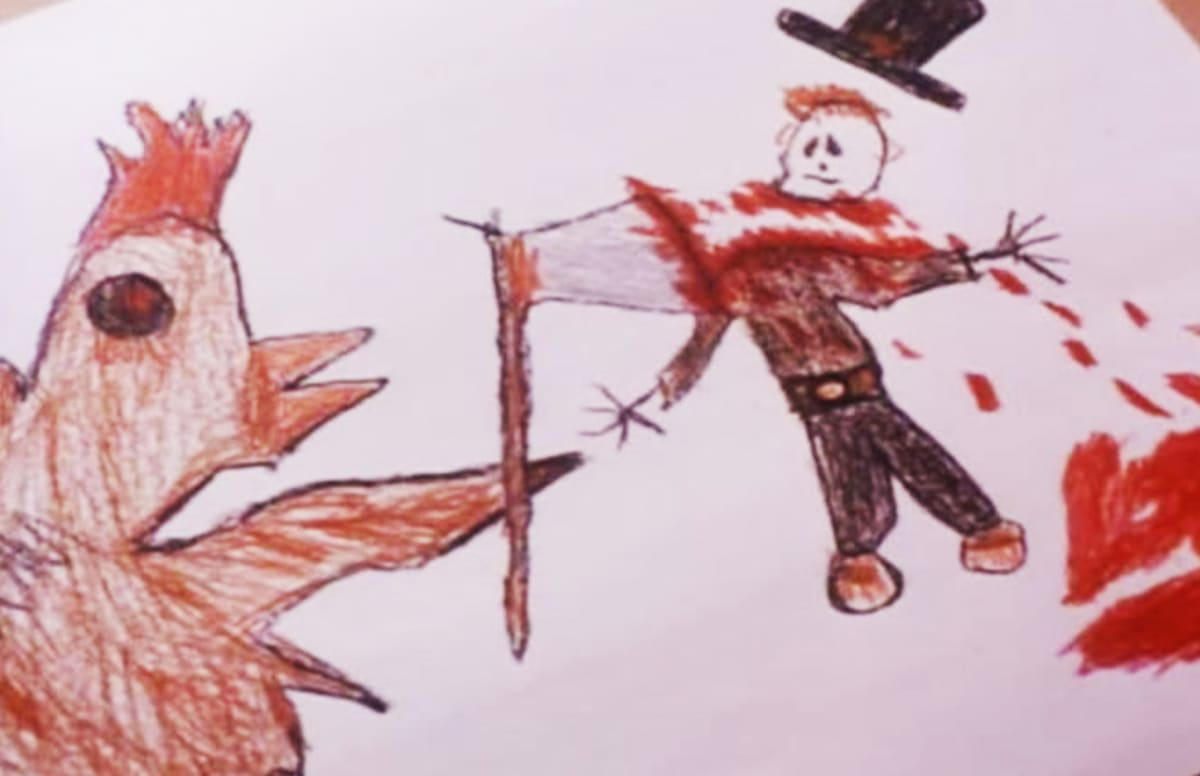 the 15 most fcked up kid drawings in horror movies complex - Kids Drawing Sketch