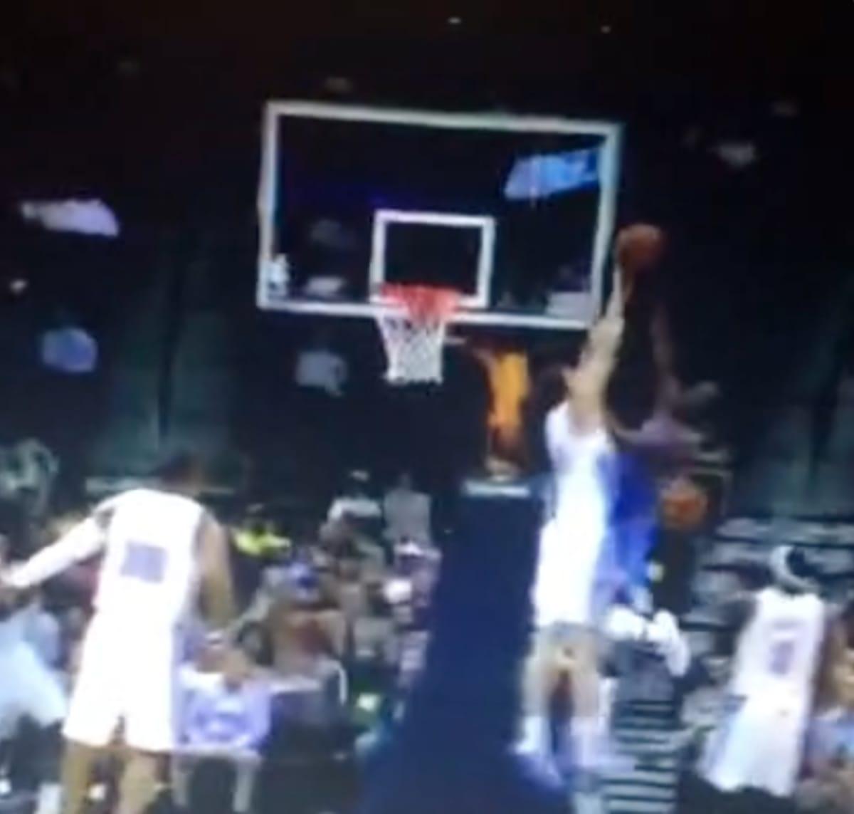 Denver Nuggets Game Tonight: Timofey Mozgov Blocks Kevin Durant (GIF)