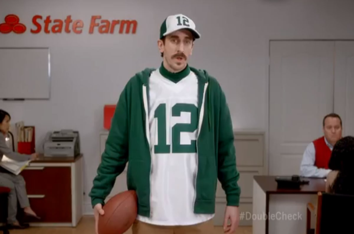 State Farm Perks >> Aaron Rodgers' Doppelganger (Tom Wrigglesworth) Is in a ...