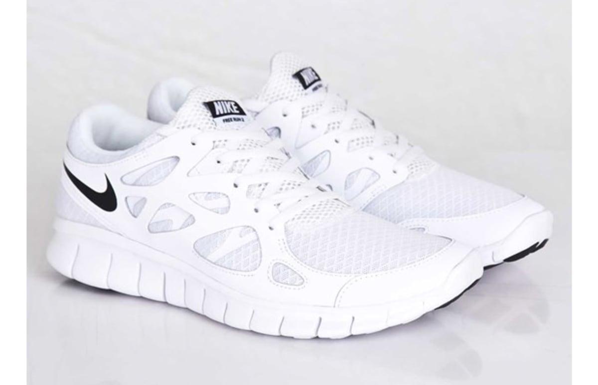 nike free run 2 all white