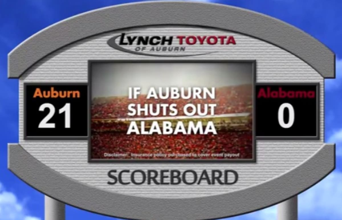 Toyota Dealership Will Give Away Cars If Auburn Shuts Out Alabama In The  Iron Bowl (Video) | Complex
