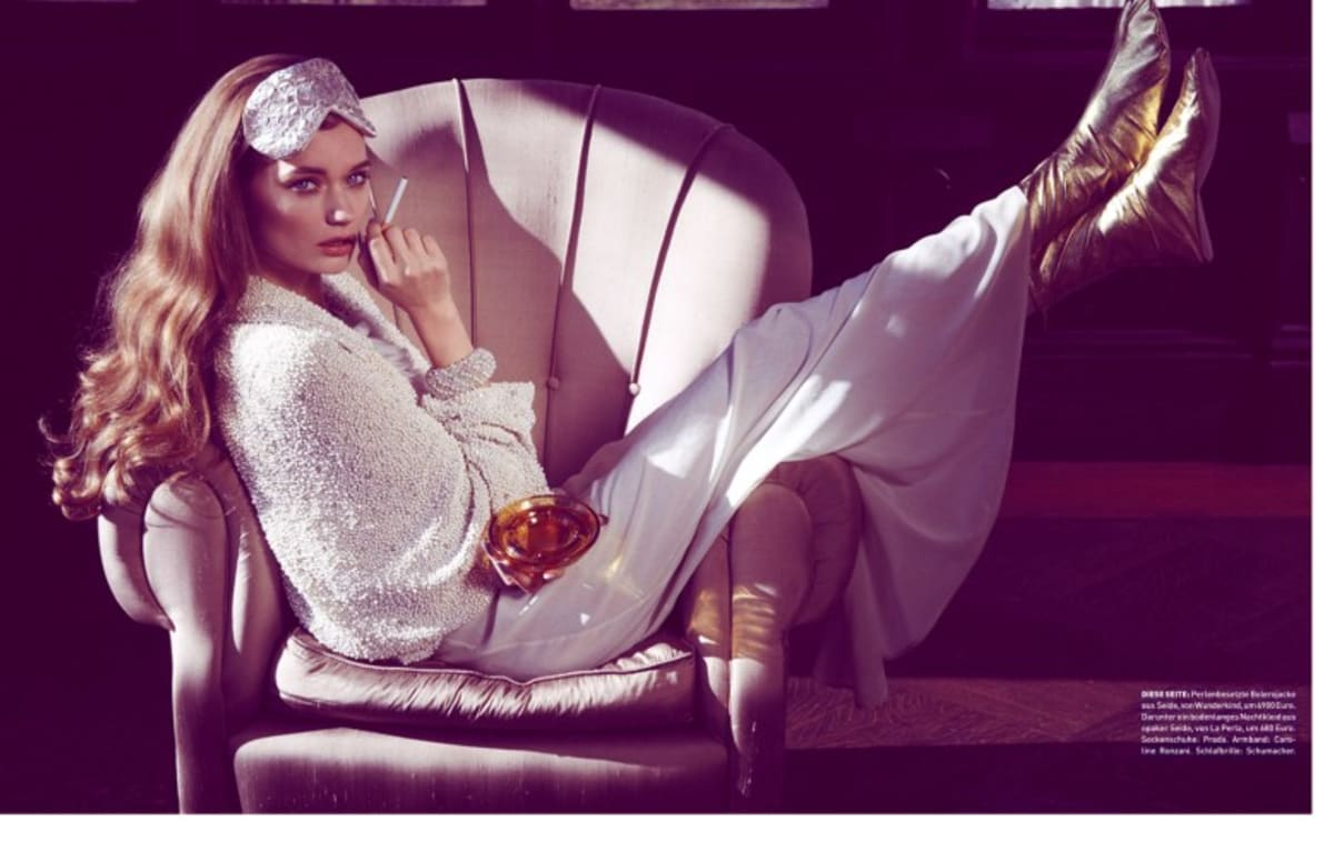 Lyoka tyagnereva is motherly chic for madame germany by