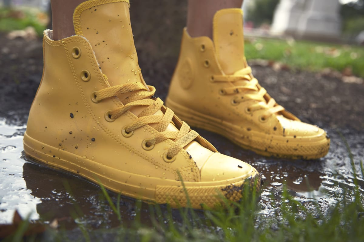 Converse Takes On The Elements With Rubber Chuck Taylors