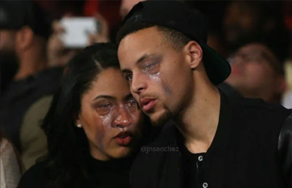 """Ayesha Curry Blocks Cavs Fan on Twitter for Asking Her to Sign Cookbook as """"Mrs. Irving"""""""