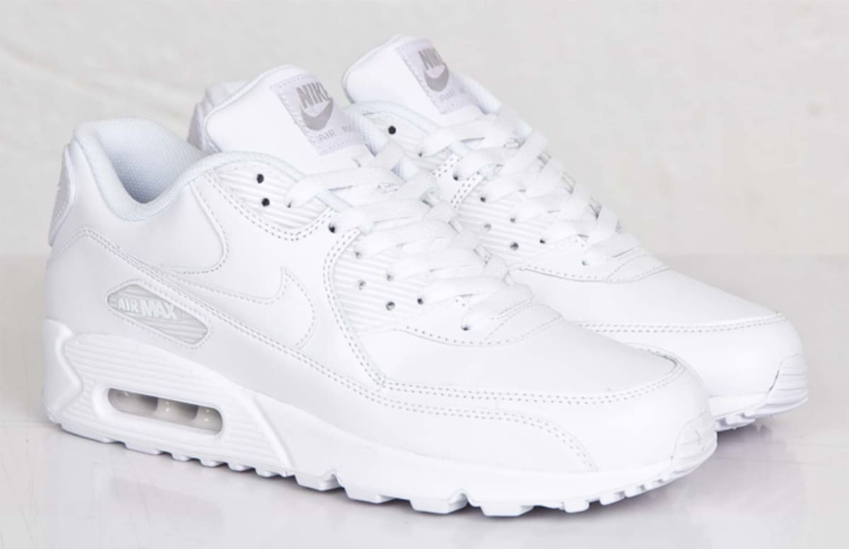 kicks of the day nike air max 90 leather white complex. Black Bedroom Furniture Sets. Home Design Ideas