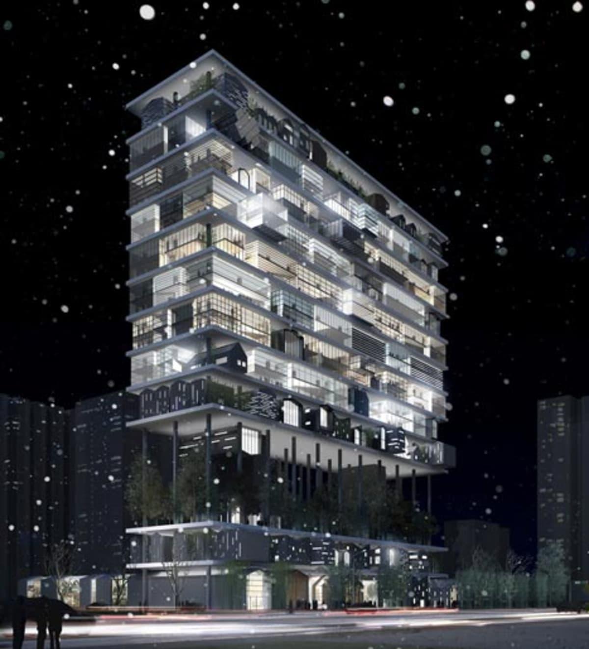 Shelf hotel in xian china complex for Design hotel xian