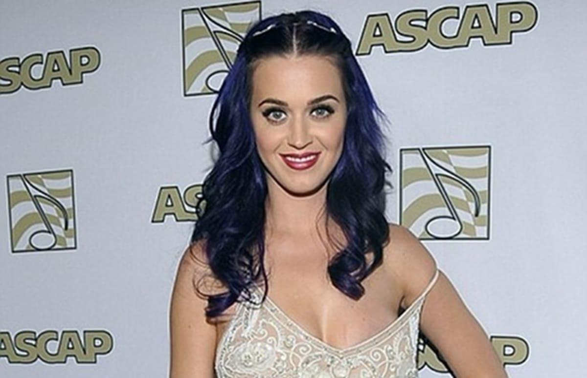Katy Perry Narrowly Avoids Nip Slip, Misses Russell Brand