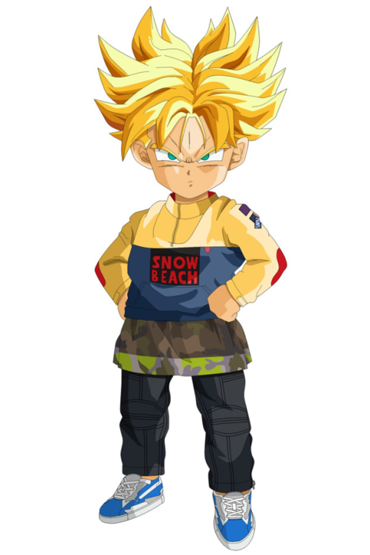 hmn alns dresses up dragon ball z characters in more streetwear