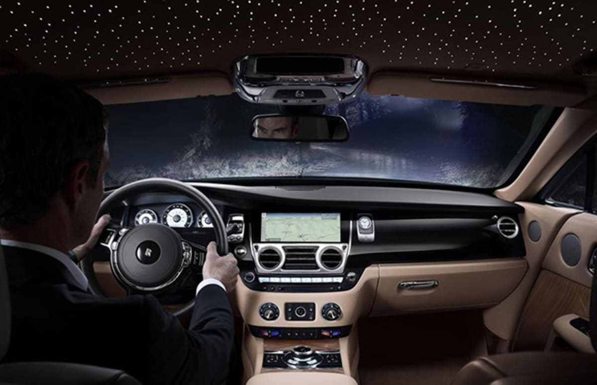 In Detail The 624 Horsepower Rolls Royce Wraith With Fiber Optic Starlight Roof Complex