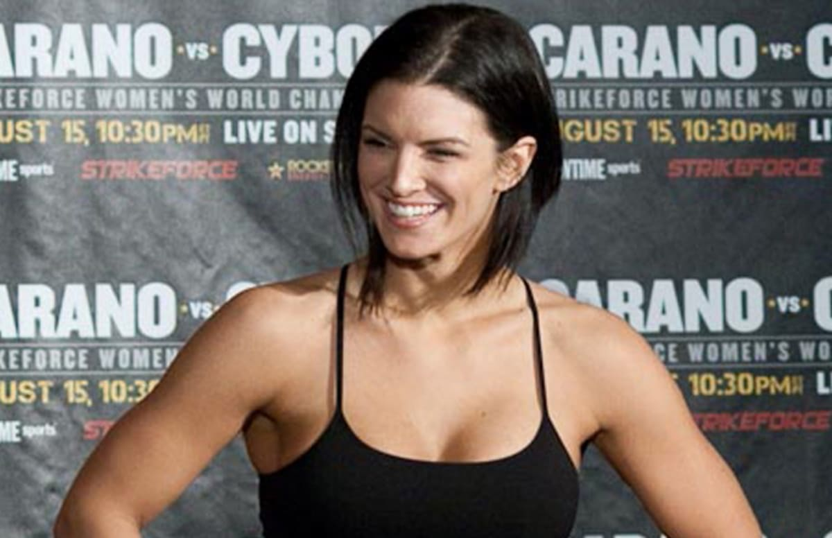 gina carano getting nude in public